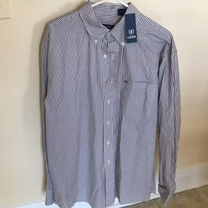 Izod Shirt SizeLarge Woven Striped Button New AA52